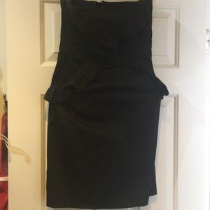 J crew little black dress with ruffle pockets